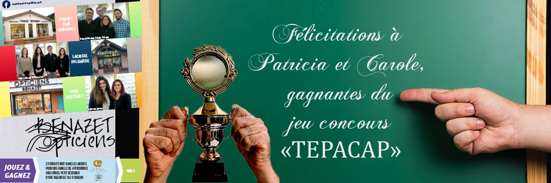 Jeu concours Tepacap : the winners are …